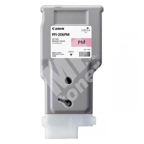 Inkoustová cartridge Canon PFI-206PM, imagePROGRAF IPF6400, magenta, 5308B001, originál