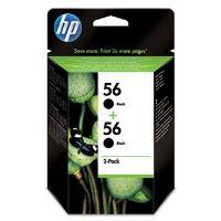 Inkoustová cartridge HP 2-Pack, C9502A, 2xC6656AE, No.56, černá, 2x19ml, originál