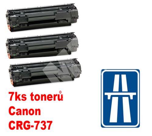7ks kompatibilní toner Canon CRG-737, MP print + dálniční známka 1