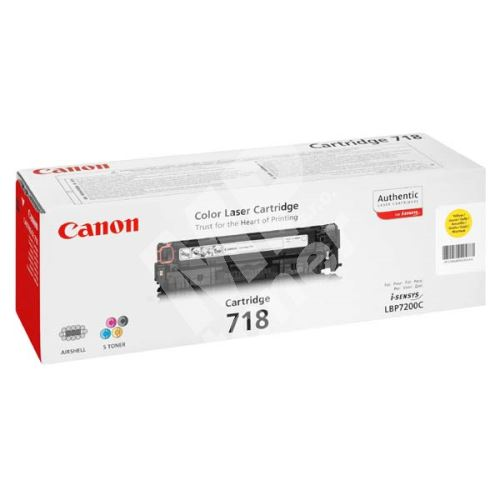 Toner Canon CRG718Y, yellow, originál 1