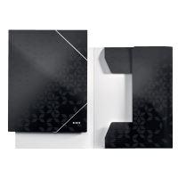 Tříchlopňové desky Leitz WOW A4, černé 3