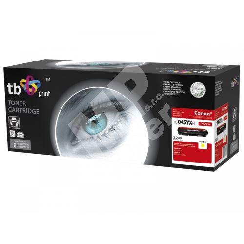 TB toner kompatibilní s Canon 045H, TC-045YXN, Yellow, 2200, new 1