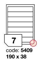 Samolepící etikety Rayfilm Office 190x38 mm 300 archů, inkjet, R0105.5409D