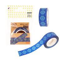 Samolepící dekorativní páska Stick'n in Blooom modrá, 16 mm x 10 m