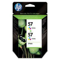 Inkoustová cartridge HP 2-Pack, C9503A, 2xC6657AE, No.57, color, 2x17ml, originál