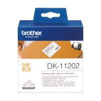 Papírové štítky Brother DK11202, 62mm x 100mm, bílá, 300 ks, pro tiskárny řady QL
