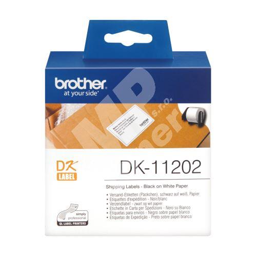 Štítky papírové Brother 62mm x 100mm, bílá, 300 ks, DK11202 2