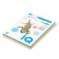 Barevný papír IQ pastelový mix, A4 80g 5 barev (CR20, YE23, PI25,MG28,MB30) 1bal/250 listů