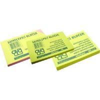 Samolepící bloček Auro 125x75mm, žlutý, 100 lístků