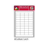 Samolepící etikety A4 SK LABEL 48,5 x 25,4 mm, 100 archů, červené