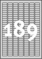 Typové štítky 25,4 x 10 mm odolné vlivům počasí - L6008-20