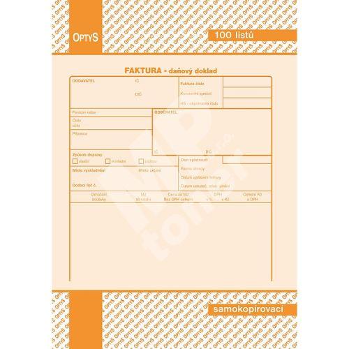 Faktura A5, samopropisovací, 100 listů, OP1072 1