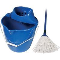 Spokar Úklidová souprava kbelík, ždímač, mop Modrá 1 sada