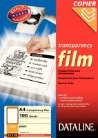 Transparentní fólie A4 pro kopírky 57170 DATALINE 1bal/100ks