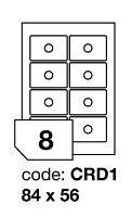Samolepící etikety Rayfilm Office průměr 84/56 mm 300 archů R0103.CRD1D