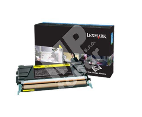 Toner Lexmark X748H3YG, yellow, originál 1