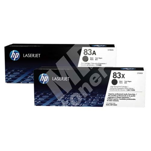 Toner HP CF283AD, black, 2-pack, 83A, originál 1