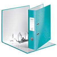 Pákový pořadač 180 Wow, ledově modrá, lesklý, 80 mm, A4, PP/karton, LEITZ 2