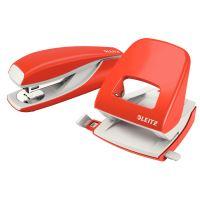 Stolní děrovač Leitz NeXXt 5008, 30 listů, světle červený 5