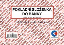 Pokladní složenky do banky samopropis PT-080 / 50 listů jeden blok 1