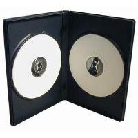 Obal, box na 2 ks DVD, černý, 14mm