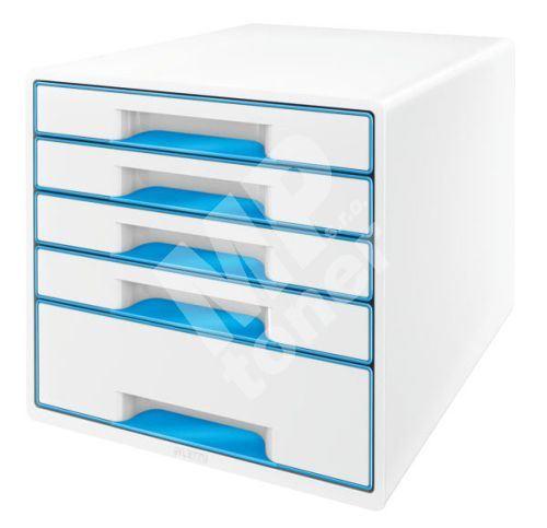 Zásuvkový box Leitz WOW, 5 zásuvek, světle modrý 1