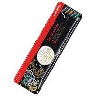 Sada fixů STABILO Pen 68 metallic, 6 různých barev, METAL BOX, 1 mm