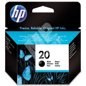 Inkoustová cartridge HP C6614DE černá, No. 20, 28ml, originál