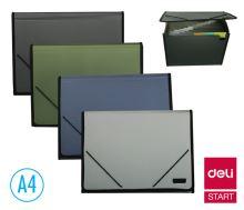 Desky na spisy Deli A4 s gumou 13 přihrádek
