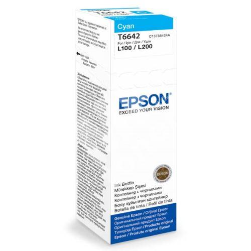 Cartridge Epson C13T66424A, cyan, originál 1