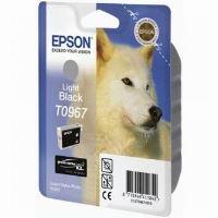 Inkoustová cartridge Epson C13T09674010, Stylus Photo R2880, světle černá, originál