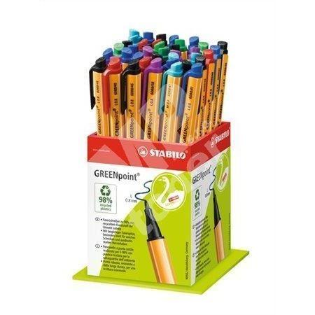 Fix Greenpoint, mix barev, 0,8mm, 40ks/displej, STABILO 2