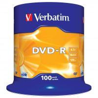 Verbatim DVD-R, DataLife PLUS, 4,7 GB, Scratch Resistant, cake box, 43549, 100-pack