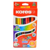 Pastelky Kores Kolores Jumbo Duo 93252 trojhranné 12ks = 24 barev