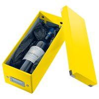 Archivační krabice na CD Leitz Click-N-Store WOW, žlutá 2
