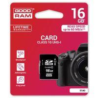 16GB Goodram Secure Digital Card, SDHC, UHS-I, Class 10