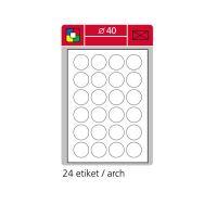 Samolepící etikety A4 SK LABEL kulaté průměr 40 mm, 100 archů, zelené