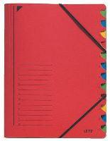 Třídící desky Leitz s gumičkou, 12 přihrádkové 1