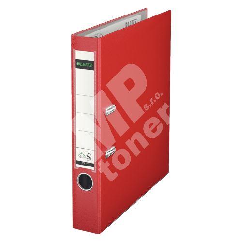 Pákový pořadač Leitz 180, A4, 52 mm, PP/karton, se spodním kováním, červený 1