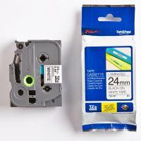 Páska do štítkovače Brother TZe-251 24mm černý tisk/bílý podklad, originál