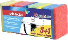 Vileda Rainbow hygienická houbička 4 kusy