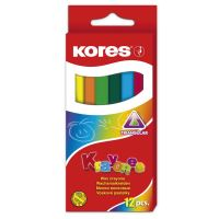 Voskové pastelky Kores Krayones, trojhranné, 12 barev