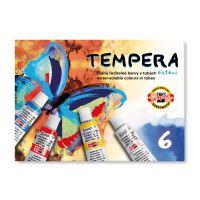 Tempera - vodou ředitelné barvy v tubách 6 x 16 ml
