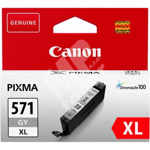 Cartridge Canon CLI-571GY XL, 0335C001, gray, originál 2