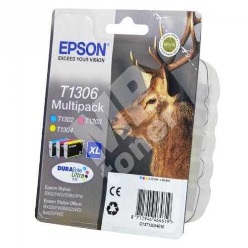 Cartridge Epson C13T13064012, CMY, originál 1