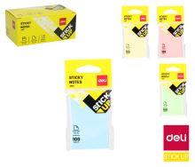 Bloček samolepící Deli Stick up Pastel mix 76 x 126mm 100l EA01502