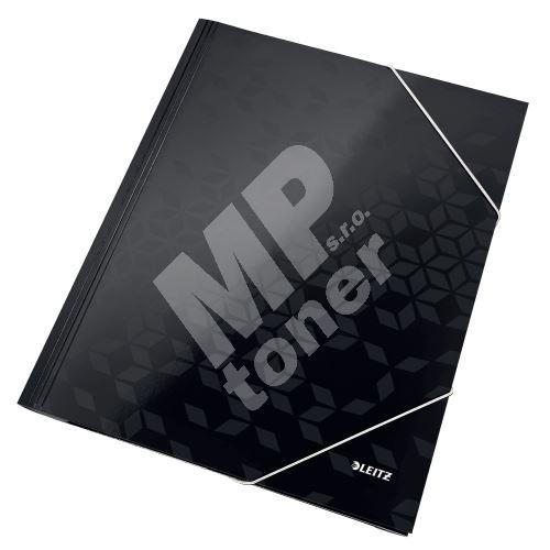Tříchlopňové desky Leitz WOW A4, černé 1