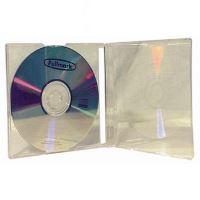 Box na 1ks CD, 10,4mm, průhledný, průhledný tray (200)