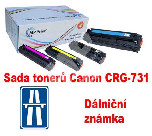 Sada tonerů Canon CRG-731H CMYK, MP print + dálniční známka 1