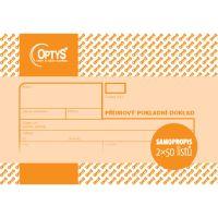 Příjmový pokladní doklad A6, samopropisovací, 2 x 50 listů, OP1091